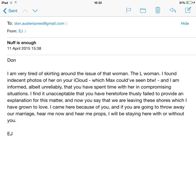 My mail to Don