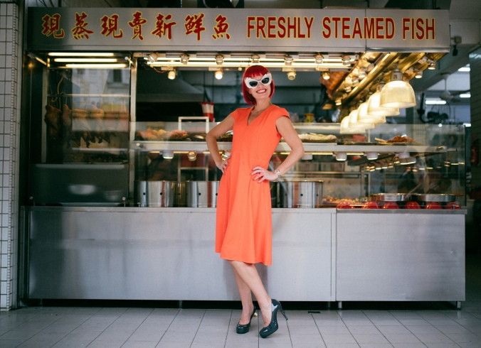 Lovin the freshly steamed fish! Dress by Attaby: https://www.facebook.com/attabystyle